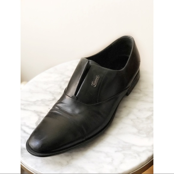 55d36ab6f76 Gucci Other - GUCCI Black Leather Loafers Mens Size 11D